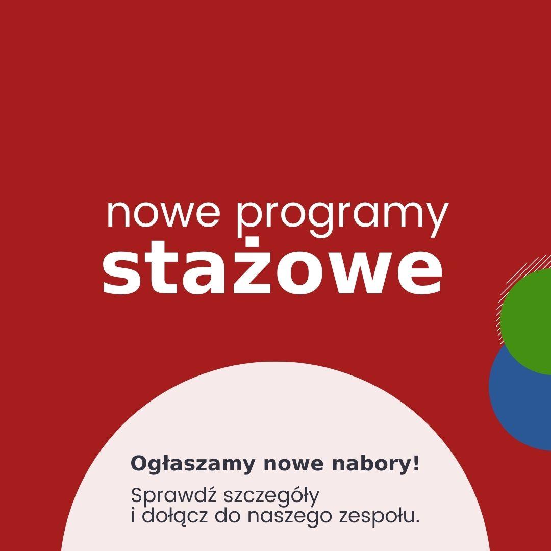 nowe programy stażowe